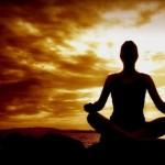 meditatie schaduw zonsondergang